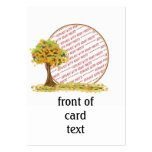 Árbol del otoño con el marco de la foto de las hoj plantillas de tarjetas de visita