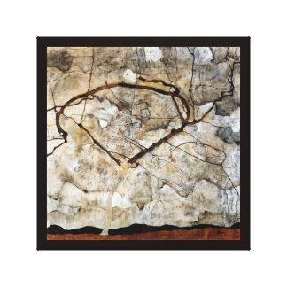 Árbol del otoño en el movimiento de Egon Schiele Impresión En Lona