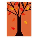 Árbol del otoño felicitación