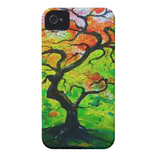 Árbol del otoño funda para iPhone 4