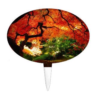 Árbol del otoño palillos de tarta