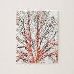 Árbol del otoño rompecabezas con fotos