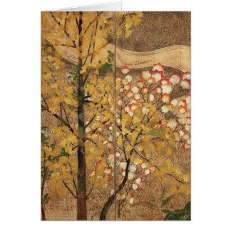 Árbol del otoño tarjetón