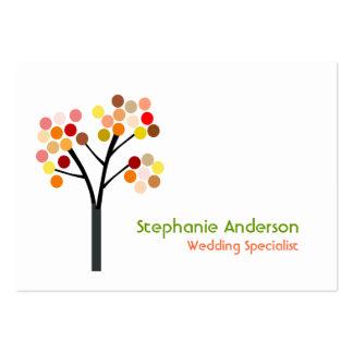 Árbol del otoño tarjeta personal