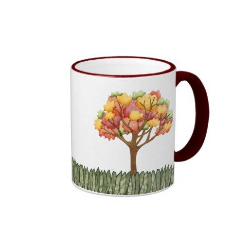 Árbol del otoño taza a dos colores
