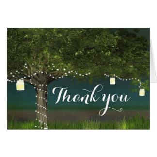 Árbol del país y invitación de boda rústicos de tarjeta pequeña