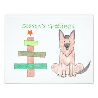 Árbol del palillo del perro de pastor alemán comunicados personalizados