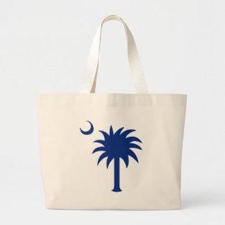 Árbol del Palmetto de Carolina del Sur Bolsa De Tela Grande