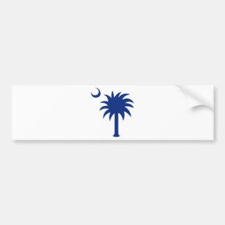 Árbol del Palmetto de Carolina del Sur Etiqueta De Parachoque