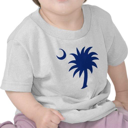 Árbol del Palmetto de Carolina del Sur Camisetas