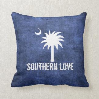 Árbol del Palmetto del amor de Carolina del Sur de Cojín