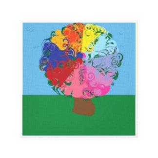 Árbol del paraíso impresión en lienzo estirada