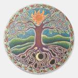 Árbol del pegatina de la mandala de la vida