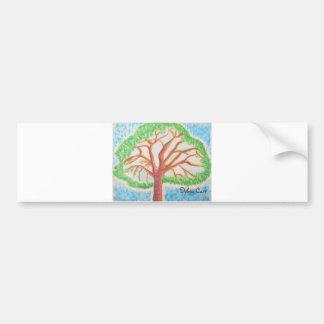 Árbol del pegatina del Vida-parachoque Pegatina Para Auto