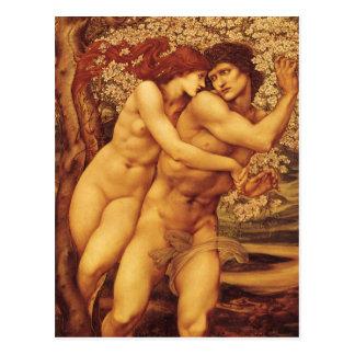 Árbol del perdón Burne Jones Victorian del vintag Postal