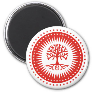 Árbol del poder imán redondo 5 cm
