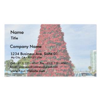 Árbol del Poinsettia del navidad en San Diego Tarjetas De Visita