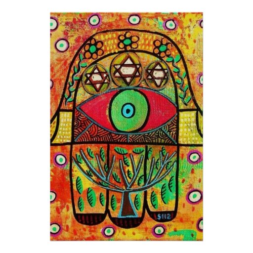 Árbol del poster de Hamsa de la vida
