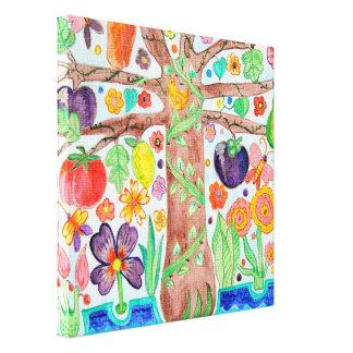 Árbol del poster de la lona de la vida impresión en lienzo