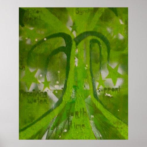 Árbol del poster de la magia de la tierra de la vi