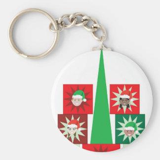 Árbol del presente del niño del navidad llavero personalizado