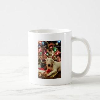 árbol del regalo de Navidad de bull terrier Taza