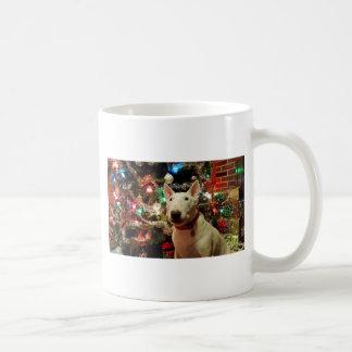árbol del regalo de Navidad de bull terrier Taza Clásica
