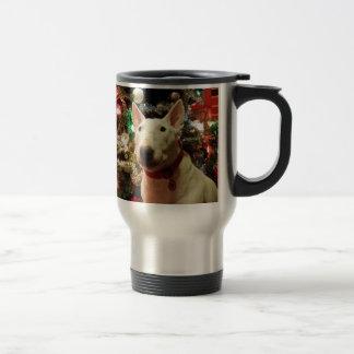 árbol del regalo de Navidad de bull terrier Taza De Viaje