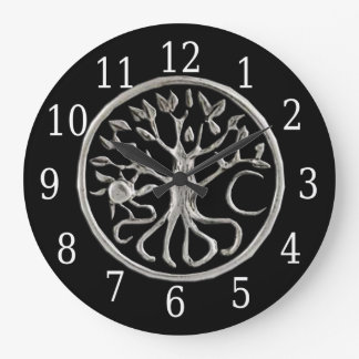 Árbol del reloj redondo de la vida