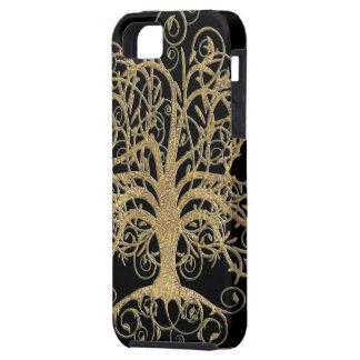 Árbol del remolino usted elige color de fondo iPhone 5 Case-Mate protector