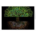 Árbol del resplandor de la vida tarjeton