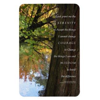 Árbol del rezo de la serenidad y imán superior de