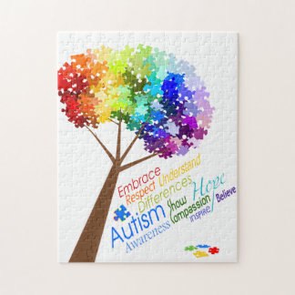 Árbol del rompecabezas de la conciencia del autism