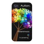 Árbol del rompecabezas del arco iris de la concien iPhone 4 cárcasa