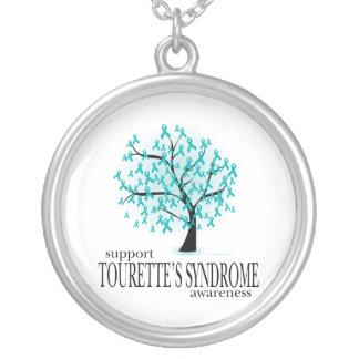 Árbol del síndrome de Tourette Collar Plateado