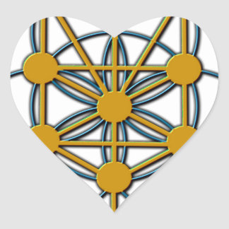 Árbol del solenoide 1 de la vida pegatina en forma de corazón