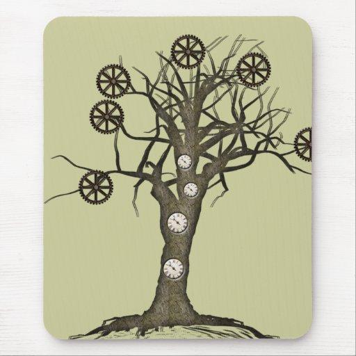 árbol del steampunk alfombrillas de ratones