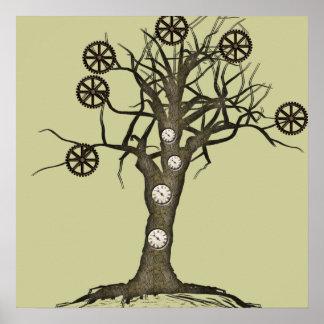 árbol del steampunk impresiones