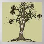 árbol del steampunk póster