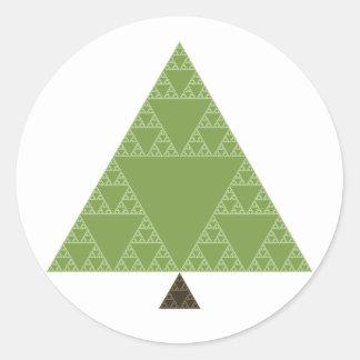 Árbol del triángulo de Sierpinski Pegatina Redonda