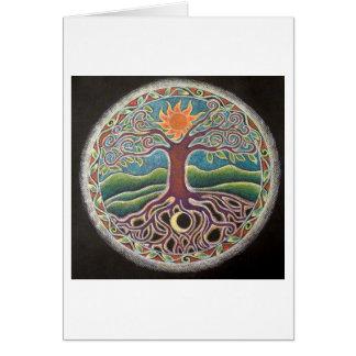 Árbol del verano de la tarjeta de la mandala de la