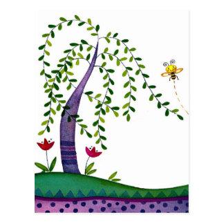 árbol del verano postal