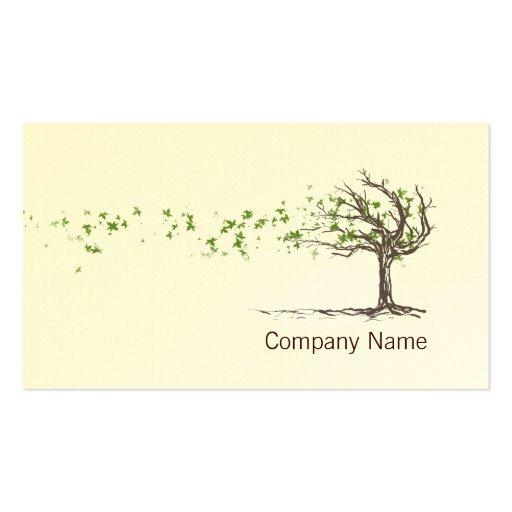 Árbol del viento del zen con la plantilla de la ta tarjetas personales