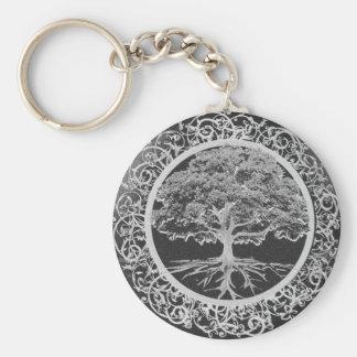 Árbol del vigor de la vida llavero redondo tipo pin