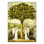 Árbol del vintage del ejemplo cristiano 1892 de la felicitación