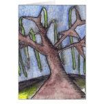 Árbol deprimido lánguido de la impresión 8 en el m felicitación