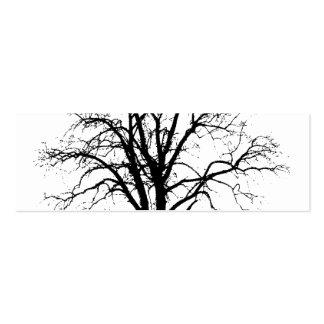 Árbol deshojado en silueta del invierno plantillas de tarjetas personales