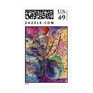 arbol,dibujo postage stamps