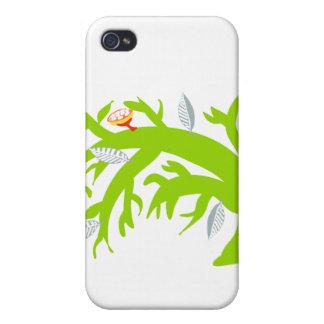Árbol doblado, verde iPhone 4 funda