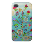 """""""Árbol en caso del iPhone 4 de la floración"""" por C iPhone 4/4S Funda"""